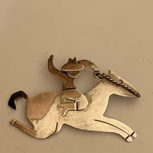 Vintage Anne Harvey Sterling 925 Mexico Horse Pin